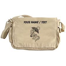Dog On The Beach (Custom) Messenger Bag