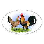 LT Brown Dutch Pair Oval Sticker
