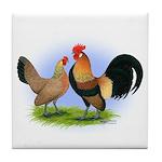 LT Brown Dutch Pair Tile Coaster