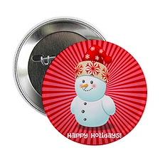 """Cute Snowman 2.25"""" Button"""