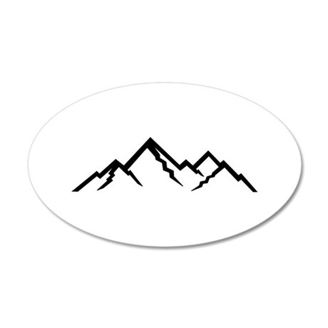 Mountains 35x21 Oval Wall Decal