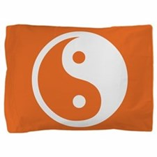 Yin Yang Orange Pillow Sham