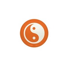 Yin Yang Orange Mini Button (10 pack)