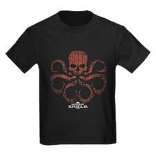 HYDRA Logo Alien Writing Kids Dark T-Shirt