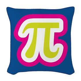 Funky Pi Woven Throw Pillow