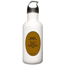 Books: Open with Care Water Bottle