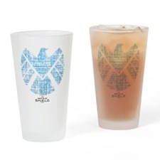SHIELD Logo Alien Writing Drinking Glass