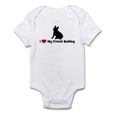 I Love My French Bulldog Infant Bodysuit
