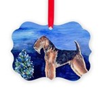 Airedale Terrier Dog Christmas Picture Ornament
