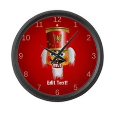 Custom Nutcracker Large Wall Clock