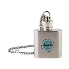 Personalized Name Monogram Gift Flask Necklace