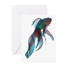 Fancy Betta Fish Greeting Cards