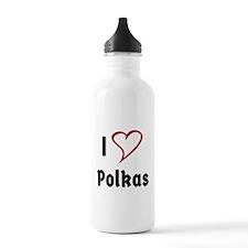 I Love Polkas Water Bottle