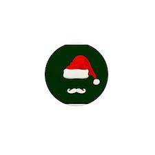 Santa Hat and Mustache Mini Button (10 pack)