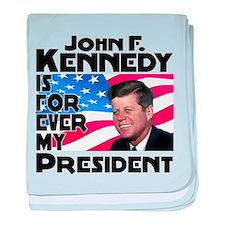 JFK Forever baby blanket
