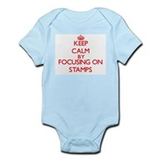 Keep Calm by focusing on Stamps Body Suit