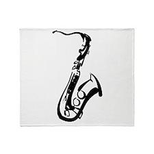 Saxophone Throw Blanket