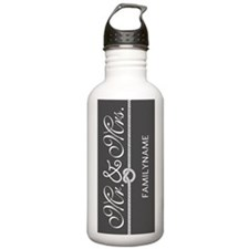 Gray and White Knot Mr Water Bottle