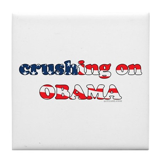 Crushing on Obama Tile Coaster