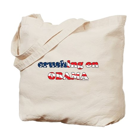 Crushing on Obama Tote Bag