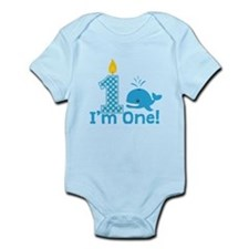 First Birthday Whale Body Suit
