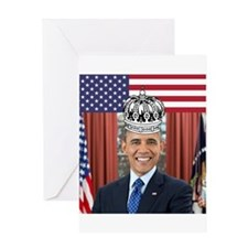 King Obama Greeting Cards