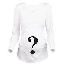 Question Mark Long Sleeve Maternity T-Shirt