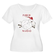 CUTE Fleece Navidad Sheep Plus Size T-Shirt