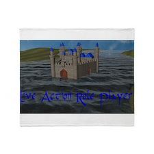 Water Castle Throw Blanket