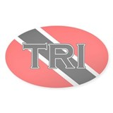 Trinidad and Tobago Flag Oval Decal
