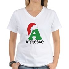 Christmas Personalized Santa Hat T-Shirt