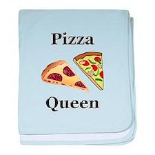 Pizza Queen baby blanket