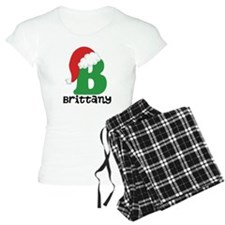 Christmas Santa Hat B Monogram Pajamas