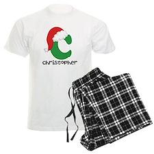 Christmas Santa Hat C Monogram Pajamas