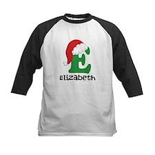 Christmas Santa Hat E Monogram Baseball Jersey