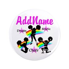 "CHEERING GIRL 3.5"" Button (100 pack)"