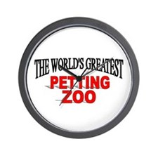 """The World's Greatest Petting Zoo"" Wall Clock"