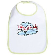 I Love Daddy Airplane Bib