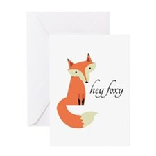 Hey Foxy Greeting Cards