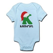 Christmas Santa Hat K Monogram Body Suit