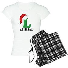 Christmas Santa Hat L Monogram Pajamas