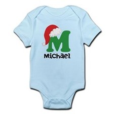 Christmas Santa Hat M Monogram Body Suit
