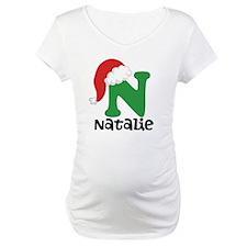 Christmas Santa Hat N Monogram Shirt
