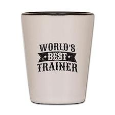 World's Best Trainer Shot Glass