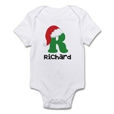 Christmas Santa Hat R Monogram Body Suit
