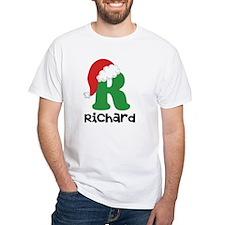 Christmas Santa Hat R Monogram T-Shirt