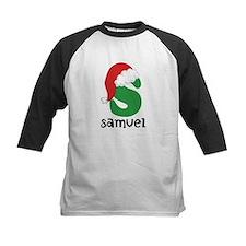 Christmas Santa Hat S Monogram Baseball Jersey