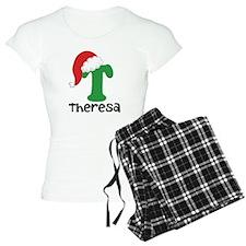 Christmas Santa Hat T Monogram Pajamas