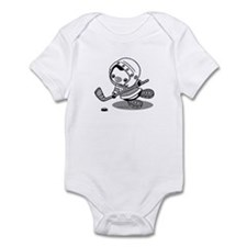 Ice Hockey Penguin (b&w) Infant Bodysuit