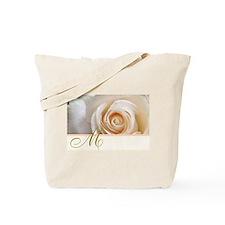 Beautiful Rose and Monogram Tote Bag